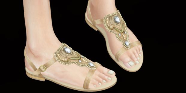 8424fdf24275bf Hair Clawtooth  Mermaidy Lady Dress  Zaara   Anusha striped dress  navy   Jewelry   MM  Multi Jewel Charm Shoes  Zaara   Janya jeweled sandals  tan